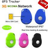 3G водонепроницаемый мини GPS Tracker с Sos& падение сигнала EV07W