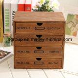 Коробка новой конструкции естественная деревянная с подгонянными размером и цветом