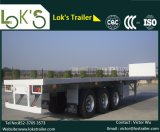 Semi-reboque plana 40feet 3axles (pneus duplos)