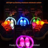 Lacets hauts de fibre de lueur d'éclairage LED