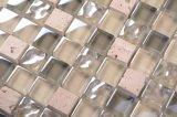 Qj007 la iridiscencia de Vidrio blanco con piedra mosaico Mosaico de cuarto de baño de burbujas