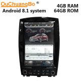 Ouchuangbo Px6 giocatore di GPS dell'automobile verticale dello schermo di stile di Tesla di 12.1 pollici audio per Infiniti Qx50 con l'OS del Android 8.1