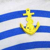 Hat Costume Party Sailorヨットのボートの大尉の青い縞は用品類に服を着せる
