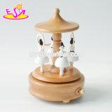Melhores artesanais Meninas Brinquedos Caixa de música de dança de madeira W07b056