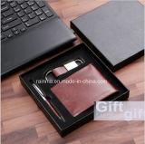 Custom корпоративный сувенир элементы бизнес Wallet подарочный набор при ключе зажигания в цепи и пера