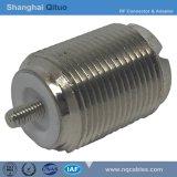 Conector de RF de UHF (SL16) Jack hembra recto End-Tooth (UHF(SL16)-KY)
