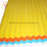 波形のガラス繊維のファイバーガラスの屋根ふきはFRPのパネルにパネルをはめる