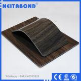 Painel composto de alumínio da grão de madeira do interior 3mm