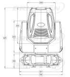 150W MiniSharpy Konzert-Stadiums-Beleuchtung-Gerät des Träger-LED