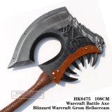 Bufera di neve Warcraft Grom Hellscream 108cm HK8475 dell'ascia di battaglia di Warcraft