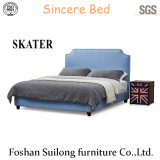 Современном американском стиле ткань кровать спальня мебель SK12