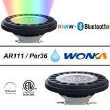 景色の照明IP67のためのAR111 Bluetooth RGBWのクリー族LEDのスポットライト