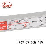 30W 12V 2.5A étanche IP67 SMPS d'alimentation à tension constante