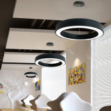 Poignée de commande LED Lampes suspendues ronde moderne et clair pour la cuisine