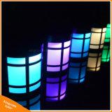 RGB LEDの屋外の照明のための太陽動力を与えられた庭の塀ライト