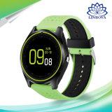 사진기 Bluetooth 건강 스포츠 시계 시간 손목 시계 SIM 카드 Smartwatch를 가진 지능적인 시계 V9