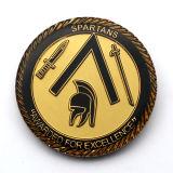 L'abitudine placcata le monete d'ottone decorative del metallo della pressofusione