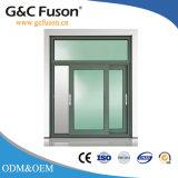 Büro-Doppeltes glasig-glänzendes Aluminium schiebendes Windows mit Gitter