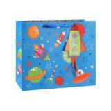 Le vêtement bleu de configuration bleue d'oiseau chausse le sac de papier de cadeau
