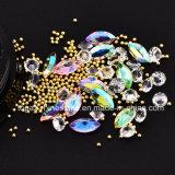 Noël de cadre de bijou a mélangé les décorations neuves de clous de cristal de mini de talons de Rhinestones de diamant de pierre gemme du cercle 3D de clou scintillement en travers d'art (NA14)