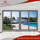Tela grande de vidro duplo de alumínio resistente a porta corrediça