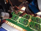 De aangepaste Raad die van PCB Roterende Enige Hoofd Dubbele &yacute van 360 Graad lassen; Automatische Solderende Machine