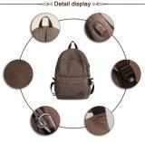 USB, der diebstahlsicherer Entwurfs-mit hoher Schreibdichte waschenden Segeltuch-Material-Rucksack auflädt