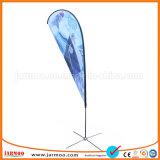 Polyester de haute qualité coloré de signes de plumes en forme de goutte d'un drapeau