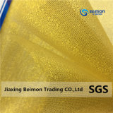 Tessuto molto popolare del Organza del filato dell'oro per imballaggio