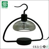 Voyant de lampe de table métalliques décoratifs Stand de la lumière avec couvercle en verre et d'atténuateur