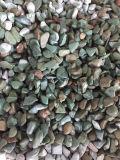 海の青い小型は庭の道の装飾のための石を裂く