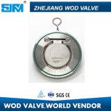 Válvula de verificación del disco del acero inoxidable del estruendo sola