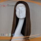 Peluca superior de seda del frente del cordón del pelo brasileño humano (PPG-l-0275)