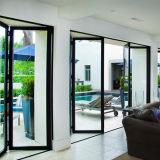 Porte en verre de la porte de pliage de Frameless 12mm glissant la porte Bi-Fold