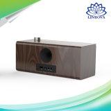 目覚し時計が付いている木のハンドメイド10W携帯用可聴周波無線Bluetoothのスピーカー