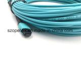MPO-MPO Faser-Optiksteckschnür-Inspektions-Simplexbetrieb für Qsfp-Qsfp für aus optischen FasernCATV