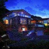 RGB 별 크리스마스 샤워 정원 레이저 광
