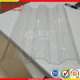 バージン物質的な温室の屋根ふきのためのポリカーボネートによって波形を付けられるシートのパソコンの波のパネル