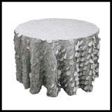 의자 테이블 장식적인 테이블 피복을%s 결혼식 호박단 원형 레이스 직물