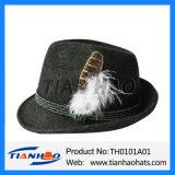 Trachten der österreichischen Tiroler Männer Gebirgsalpiner Wolle-Filz-Winter-Hut
