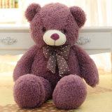 Urso colorido da peluche da fonte da fábrica grande com Bowknot