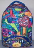 多色刷りの漫画ランドセルに戻る耐久学生のバックパック