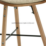 Цельная древесина ног тканевой обивки Bentwood обеденный стул