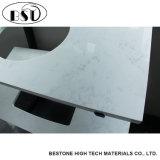 Parte superiore di pietra di sguardo di marmo bianca personalizzata di vanità del quarzo di Carrara per la stanza da bagno