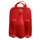 عامة أحمر [إفا] خمر ثبت [كرّي كس] مع زجاجة وحيد واثنان فناجين