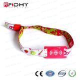 Wristband tessuto variopinto della serratura RFID dell'hotel di prezzi del braccialetto di RFID