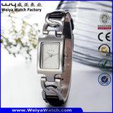 Montre en acier de femme de quartz de vente chaude d'OEM/ODM (Wy-020B)