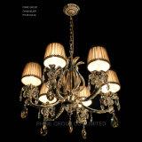 La moderna decoración iluminación colgante de cristal claro con tejido de la luz de aparejo de la sombra de la luz de lámpara de araña de Phine pH-0814Z 6 6~8~15 armas