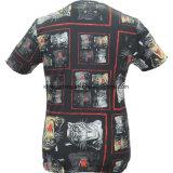 차가운 제조자 도매 남자의 고품질 형식은 적당한 t-셔츠를 체중을 줄인다