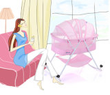 Облегченная шпаргалка младенца металла сети кровати младенца